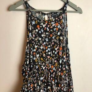 Torrid Floral Hi-Lo Maxi Dress, Black Sz 3